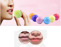 Wholesale 3D Lipstick New Makeup Round Ball Moisturizing lip balm Natural Plant Sphere lip Pomade lip balm Fruit Embellish lip Care