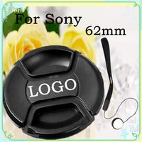 Wholesale 62mm Lens Cap Cover with logo for Sony Nex LC Len Cover Keeper Holder Strap Free Ship Russia Brazil Tracking Number set
