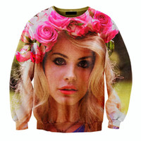 beautiful star pictures - fashion star photo print Lana del rey floral HD picture sweatshirt beautiful women men hoodie outwear crewneck sweat tops