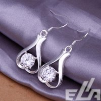 Wholesale 925 silver brinco fashion bijoux with stone and crystals