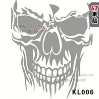 Wholesale Skull car stickers car stickers wind door stickers fuel tank cover kl006