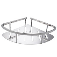 bathroom shower inserts - 2015 Bathroom Corner Triangular Tub and Shower Caddy Basket Polished SUS Stainless Steel Bathroom Rack