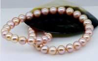 Wholesale huge10 mm south sea round lavender natural pearl necklace18inch