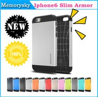 Wholesale Hybrid SGP slim armor Tough Hard case Cover skin for Iphone G inch Iphone6 Apple With Without Package screen protectors