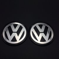 Wholesale New Car VW Stickers Wheel Center Fits Hub Cap Stickers mm VW wheel center emblems for polo golf passat b5 touran bora