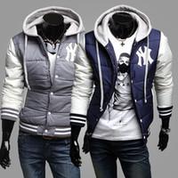 baseball grosgrain ribbon - 2015 Hot male fashion male personality style baseball hooded coat