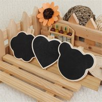 Wholesale Mini Wood Blackboard Peg Clip Message Memo Chalk Board Clip Holder Place Setting Heart Cloud Bear Blackboard