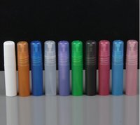 assorted perfume atomizer - 200pcs ml small empty spray bottle Plastic Perfume sample bottle pen atomizer color assorted send color random