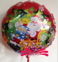 aluminium tree - Cheap Sale Christmas Tree Santa Claus Helium Aluminum Foil Balloons Inch Balloon Gifts For Kids Toys or Wedding Birthday Party Decoration