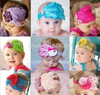Wholesale Lovely Bowknot Feather baby headbands Headwear feather headdress feather headband flowers baby headband Hairband