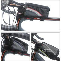 Wholesale Orge Cycling Bike Frame Front Tube Waterproof Mobile Phone Bag Holder Sports cm Colorful Bike Front Tube Bags in Stock