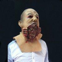 Wholesale Horror Demons Head Devour Monster Mask Scary Halloween Masquerade Masks Adults Latex Party Mask Vestido De Festa MS056
