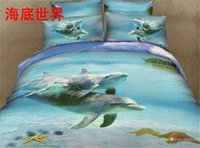 Cheap Pure cotton reactive print 3d bedding sets 4pcs Personalized 3D stereoscopic 3d Foreign denim bedding cotton quilt cotton linens wholesale
