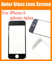 clear cover lens - High copy for apple iPhone iphone plus Front Outer Glass Lens transparent Touch Screen digitizer Cover clear black white blue SNP007