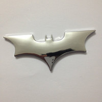 Wholesale 4 inch batman Car d Logo Chrome Emblem Badge Self Adhesive Badge Decal superman bat comics The Dark Knight Vinyl Decal Sticker