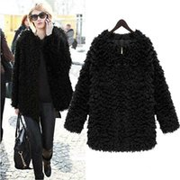Wholesale 4075 New Autumn Winter Coat Women Fur Fashion Women Fur Coat Knitwear Long Sleeve Loose Faux Fur Cardigan Jacket women fur coats jacket