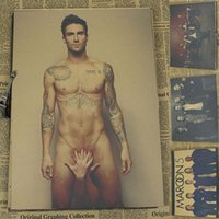 adam levine - MAROON5 Adam Levine Retro Rock Poster Wall House Living Room Art Decoration Painting CM