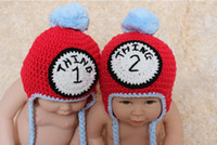 baby boy twins - Crochet THING THING Twin Hat Set Baby Boys Girls Knitted Hat Winter XMAS Infant Toddler Kids Children Animal Beanie Skull Caps Cotton