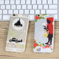 apple hood - For iphone5 s s plus Snow White Mermaid Alice transparent Painting case cover creative Little Red Riding Hood back cover TPU phone cases