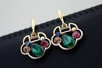 Wholesale Fashion Discount Concentric Lock Crystal Earrings Fashion Jewelry Earrings Female Models Stud Earrings S48698