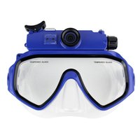 action camera - Blue M HD P Underwater DV Digital Video Camera FK Diving Mask Mini Action Camera Play On TV Waterproof DVR Wide Angle Diving E5173L