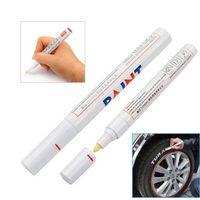 Wholesale Permanent Waterproof Car Tyre Tire Metal Paint Marking Pen Marker Motor Bike Whi