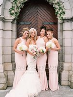 peach bridesmaid dresses - long peach pink bridesmaid dresses jewel neck backless sheath long prom dress wedding party formal dress