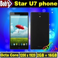 Cheap Free Shipping Original Star Ulefone U7 U69 Mobile phones Android 4.2 MTK6592 Octa Core cell phone 7inch 16GB ROM dual sim smartphone