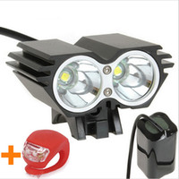 Wholesale Hotest lumen LED Bike Light Bicycle Lamp Headlamp Flashlight kit Modes rechargable Battery Pack Charger