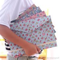 Wholesale Stationery Fresh Cloth Rustic A4 File Bags File Folder Canvas Zipper Paper Clip Pencil Case File Bag A3