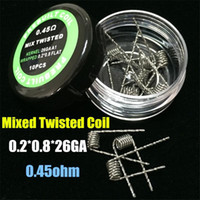 Wholesale New Hot Flat twisted wire Fused clapton coils Hive premade wrap wires Alien Mix twisted Quad Tiger coils Heating Resistance wire Vape RDA