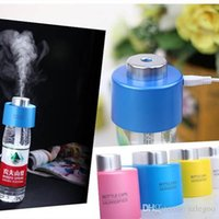 Electrical dc caps - Cheap Price DC V USB Portable ABS Water Bottle Cap Humidifier Office Air Diffuser Aroma Mist Maker Absorbent Filter Sticks