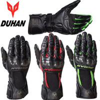 Wholesale 2015 New DUHAN D DS02 motorcycle gloves motorbike gloves men riding a moto protective full finger gloves made of leather carbon fiber