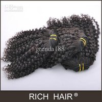 Wholesale Mix Length quot Kinky Curl Color B Brazilian Virgin Hair Extension Hair Weft Body Wave Natural Color