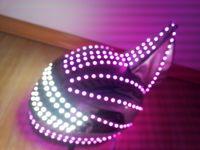 festival clothing - DJ LED luminous glowing dance costumes suits helmet clothing festival party dance accessories