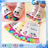 Wholesale Ladies Fashion Trainers - New Arrival Hot Fashion Lady Womens Girls Smile Five Fingers Trainer Toe Ankle Sport Socks,Best Gift for Christmas,Free shipping,wu