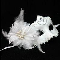 Wholesale Cheap Halloween Masquerade Christmas Venetian Party Half Face Mask flower Woman Lady Sexy Mask crystal Masquerade
