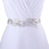 Wholesale S182 Hot sales High Quality Women s Fashion Jewelry Bride luxurious Wedding Dresses Belt Rhinestone Ribbon Sashes