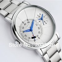 Wholesale New TOP Brand EYKI Men s High quality plating stainless steel strap Double time Zone calendar watch