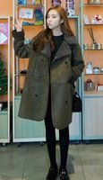 Wholesale Korean new fashion woman winter lambs wool suede padded cotton jacket Plus size thick warm double breasted long coat LP0123