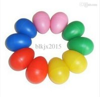 Wholesale Plastic Egg Maraca Rattles Shaker Percussion music Toy Kid Favor Party color