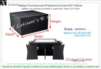 Fabric garden furniture - Medium size Rattan furniture set Protective cover quot garden furniture cover water proofed cover for outdoor furniture
