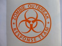 Wholesale Wall Stickers D Carbon Fiber Vinyl Window Sign Zombie Outbreak Response Team Biohazard For Car Boat Window Kids room Size Inches Width