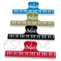 Wholesale W110 pc L Size Plastic Music Book Note Clip Book Page Clip Portable Piano Clip New Colors