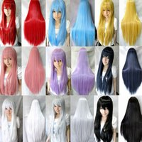 Wholesale 9 colors pelucas sinteticas harajuku lolita synthetic wigs anime cosplay wig perruque synthetic women pelucas airola Pink white green