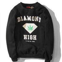 diamond supply co - 2015 Fashion Men s autumn winter fleece causal pullover sportswear hip hop weed printed sweatshirt diamond supply co hoodies