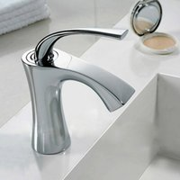 bathroom lever - Freeshipping B R New Modern Chrome Single Lever Kitchen Bathroom Sink Basin Mixer Tap Faucet B M