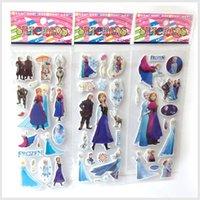 Wholesale 17 cm Cartoon stick Frozen Sticker Elsa Anna Party Decoration Classic Toys for Children Baby Toys