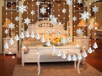 Wholesale Christmas Shoe rack Door windows home decoration crystal beads curtain screens room dividers