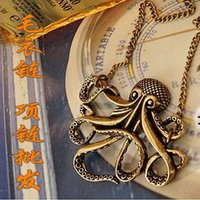 beaded octopus - Factory Retro fashion personality Pirates of the Caribbean octopus necklace sweater chain female Specials A Valenti